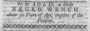 Jan 1 1770 - Newport Mercury Slavery 2