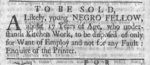 Jan 1 1770 - Newport Mercury Slavery 3