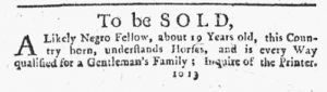 Jan 11 1770 - New-York Journal Slavery 1