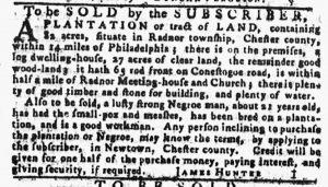 Jan 11 1770 - Pennsylvania Gazette Slavery 1