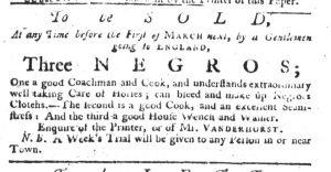 Jan 11 1770 - South-Carolina Gazette Slavery 2