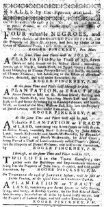 Jan 11 1770 - South-Carolina Gazette Slavery 4