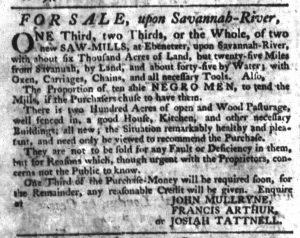 Jan 11 1770 - South-Carolina Gazette Slavery 5
