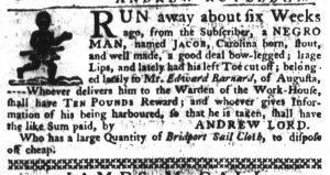 Jan 11 1770 - South-Carolina Gazette Slavery 6
