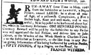 Jan 11 1770 - South-Carolina Gazette Supplement Slavery 2