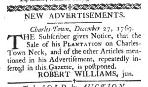 Jan 2 1770 - 1:2:1770 South-Carolina Gazette and Country Journal