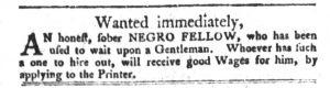 Jan 2 1770 - South-Carolina Gazette and Country Journal Slavery 11