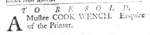 Jan 2 1770 - South-Carolina Gazette and Country Journal Slavery 4