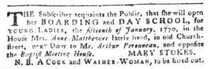 Jan 2 1770 - South-Carolina Gazette and Country Journal Slavery 5