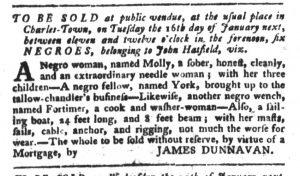 Jan 2 1770 - South-Carolina Gazette and Country Journal Slavery 8
