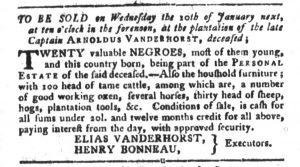 Jan 2 1770 - South-Carolina Gazette and Country Journal Slavery 9