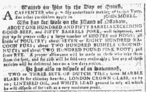 Jan 3 1770 - Georgia Gazette Slavery 2