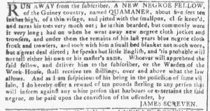 Jan 3 1770 - Georgia Gazette Slavery 4
