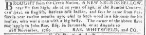 Jan 3 1770 - Georgia Gazette Slavery 5