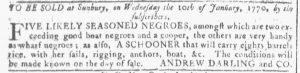 Jan 3 1770 - Georgia Gazette Slavery 6