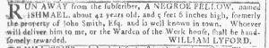 Jan 3 1770 - Georgia Gazette Slavery 7