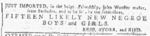 Jan 3 1770 - Georgia Gazette Slavery 8