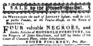 Jan 4 1770 - South-Carolina Gazette Slavery 1