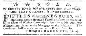Jan 4 1770 - South-Carolina Gazette Slavery 2