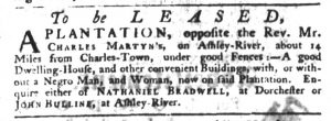 Jan 4 1770 - South-Carolina Gazette Slavery 6
