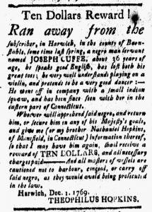 Jan 5 1770 - New-London Gazette Slavery 2