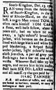 Jan 5 1770 - New-London Gazette Slavery 3