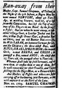 Jan 5 1770 - New-London Gazette Slavery 4
