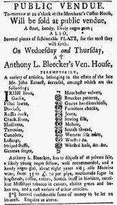 Jan 8 1770 - New-York Gazette and Weekly Mercury Slavery 2