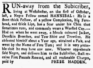 Jan 8 1770 - New-York Gazette and Weekly Mercury Slavery 6