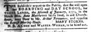 Jan 9 1770 - South-Carolina Gazette and Country Journal Slavery 11