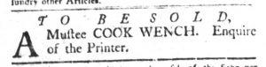 Jan 9 1770 - South-Carolina Gazette and Country Journal Slavery 15