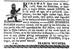 Jan 9 1770 - South-Carolina Gazette and Country Journal Slavery 6