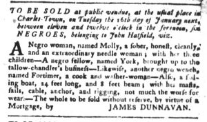 Jan 9 1770 - South-Carolina Gazette and Country Journal Slavery 7