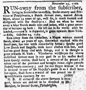 Feb 1 1770 - New-York Journal Slavery 1