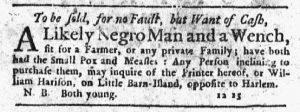 Feb 1 1770 - New-York Journal Slavery 2