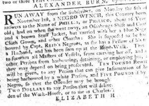 Feb 1 1770 - South-Carolina Gazette Slavery 10
