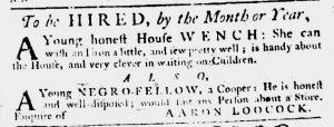 Feb 1 1770 - South-Carolina Gazette Slavery 12