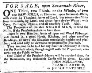Feb 1 1770 - South-Carolina Gazette Slavery 15