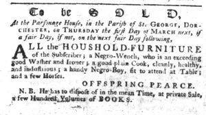 Feb 1 1770 - South-Carolina Gazette Slavery 4