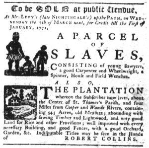 Feb 1 1770 - South-Carolina Gazette Slavery 7