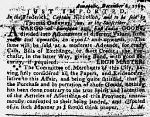Feb 1 - 2:1:1770 Maryland Gazette