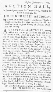 Feb 3 - 4:3:1770 Providence Gazette