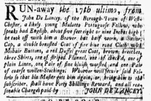 Feb 5 1770 - New-York Gazette and Weekly Mercury Slavery 2