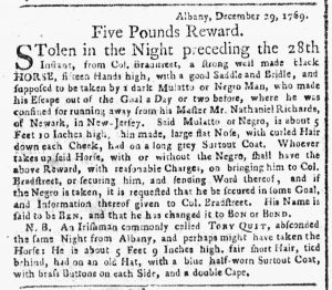 Feb 5 1770 - New-York Gazette or Weekly Post-Boy Slavery 1