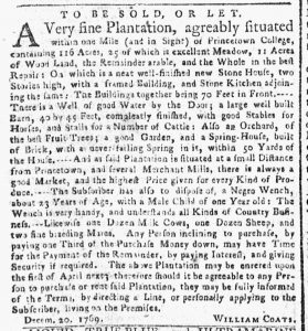 Feb 5 1770 - New-York Gazette or Weekly Post-Boy Slavery 2