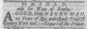 Feb 5 1770 - Newport Mercury Slavery 1