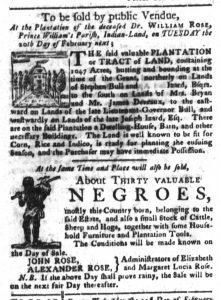 Feb 6 1770 - South-Carolina Gazette and Country Journal Slavery 2