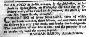 Feb 6 1770 - South-Carolina Gazette and Country Journal Slavery 5