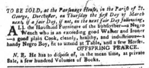Feb 6 1770 - South-Carolina Gazette and Country Journal Slavery 6