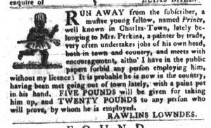 Feb 6 1770 - South-Carolina Gazette and Country Journal Slavery 7